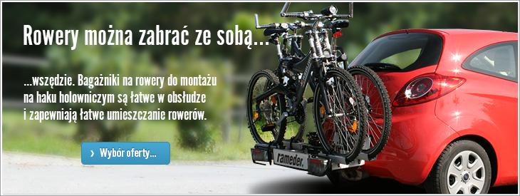Rowery można zabrać ze sobą...